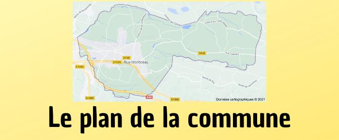 Le plan de la commune