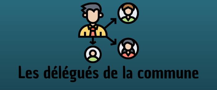 Les délégués de la commune